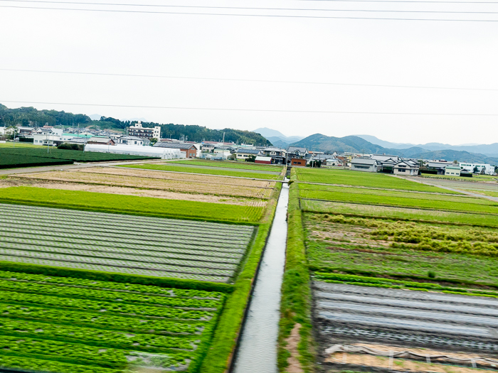 View of Japan from Train